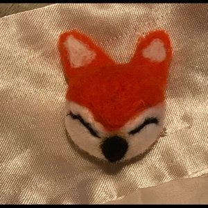 Other - Boiled wool fox 4 hair clip key fob necklace craft